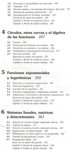 álgebra max sobel lerner funciones cónicas series
