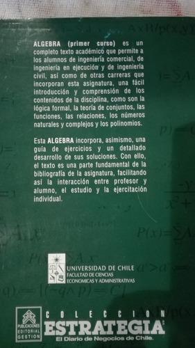 algebra  (primer curso) de humberto cipriano y roberto d