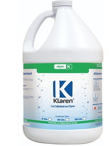 algicida algen 4 lts + tricloro granulado 5 kg para alberca