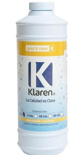 algicida algen + clarificador klaren de 4 lts +abrillantador