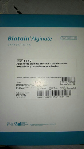 alginato de calcio marca biatain alginate .cintas
