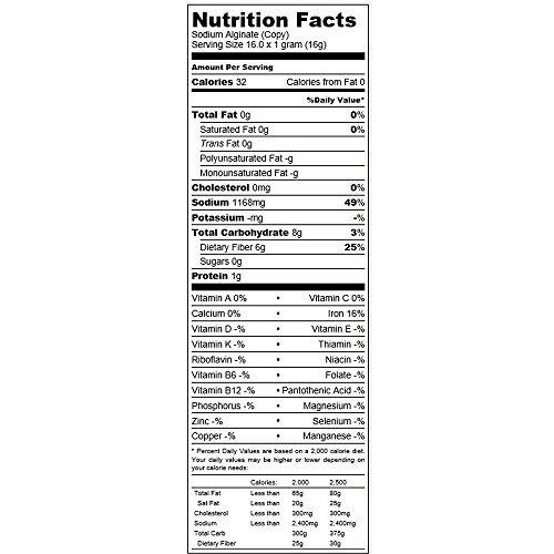 alginato de sodio en forma polvo - 16 oz
