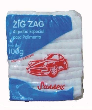 algodão automotivo zig zag para polir encerar e cristalizar