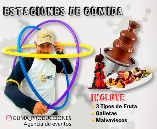 algodon de azucar , cotufas , fuente de chocolate y mas