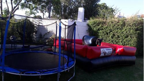 algodon de azucar.toro mecanico cama elastica pop maquillaje