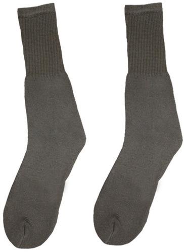 algodón más tripulación calcetines negro - tamaño 10-13