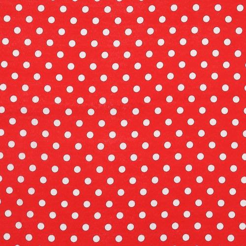 algodon roma bolas grande liso rojo