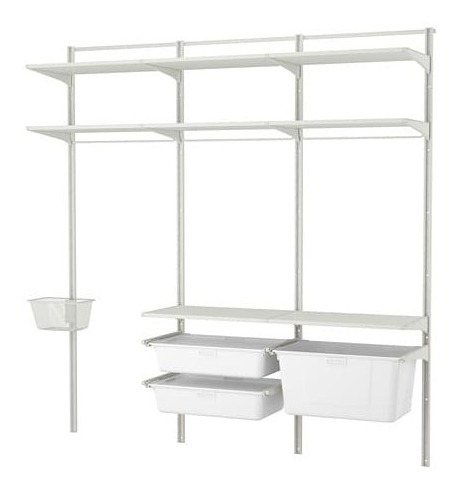Algot Wall Upright/shelves/box, White Ikea