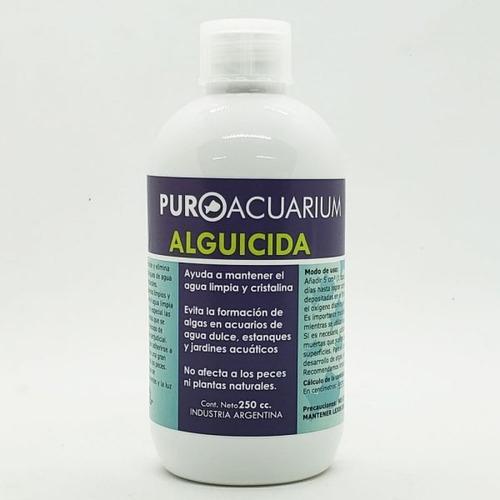 alguicida  puro acuarium acuario estanque pecera 250cc