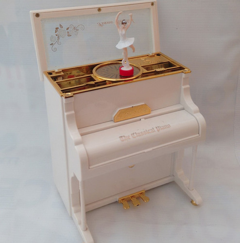 alhajero caja musical piano de cuerda con bailarina