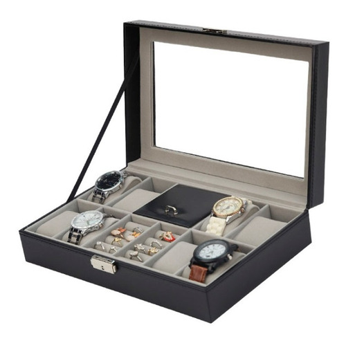 alhajero organizador de joyería terciopelo relojeria moderna