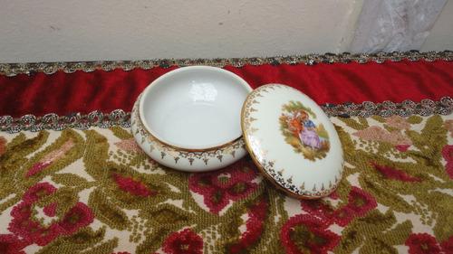 alhajero porcelana limoges antiguo escena galante vealo