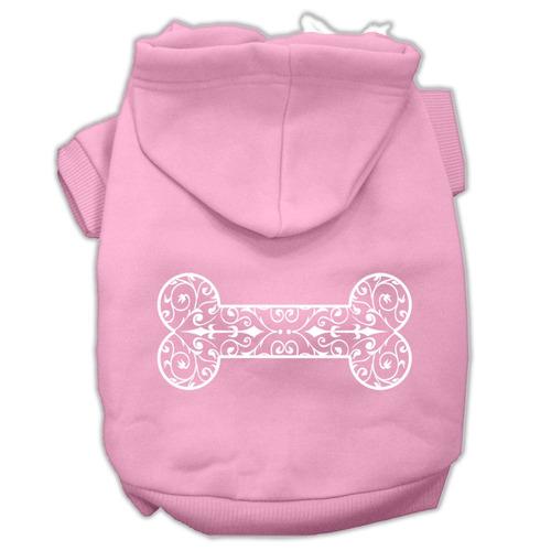 alheña hueso pantalla impresión pet hoodies rosa luz