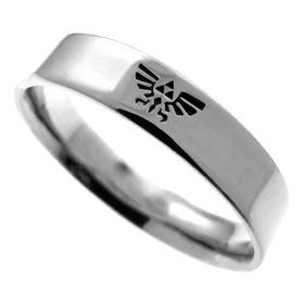 Aliança / Anel Em Prata 925 - Zelda - Brasão De Hyrule-1257