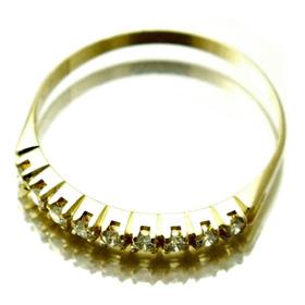 Aliança 9 Diamantes 4 Pt Cada=36 Pt Brilhantes Vvs1\ F=a=19