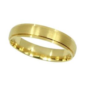 Aliança Alegria Em Ouro 18k 4mm Casamento E Noivado