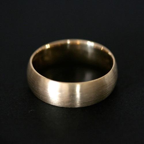 aliança anatômica de ouro 18k 750 fosco largura 7.4mm espes