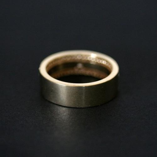 aliança anatômica de ouro 18k 750 largura 6.4mm espessura 1