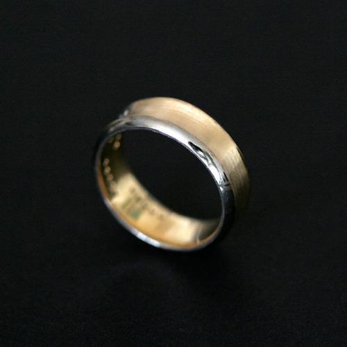 aliança anatômica de ouro 18k 750 largura 6.8mm espessura 1