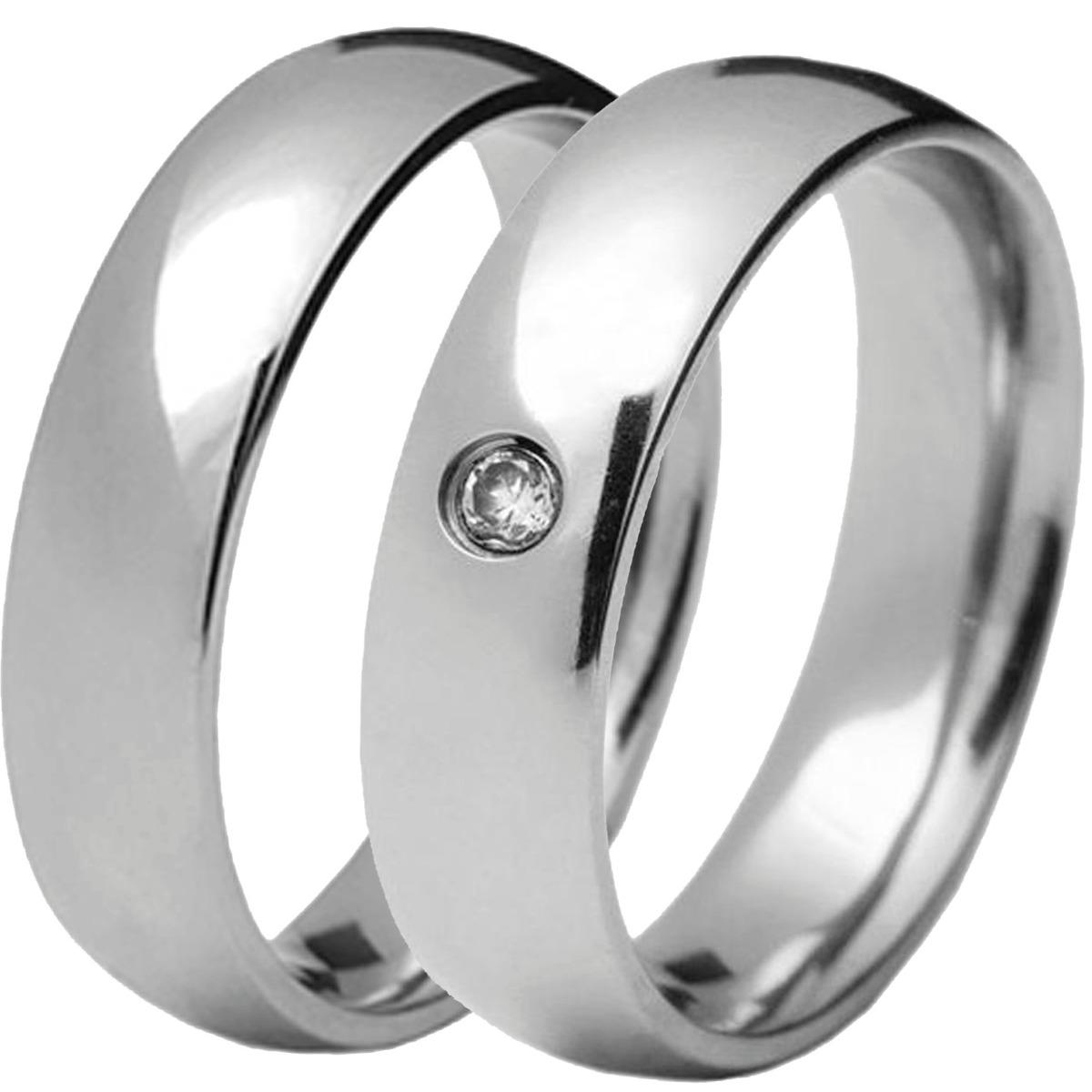 a5c6b9c7ec2 aliança anel aço inox cirúrgico 8mm namoro compromisso prata. Carregando  zoom.
