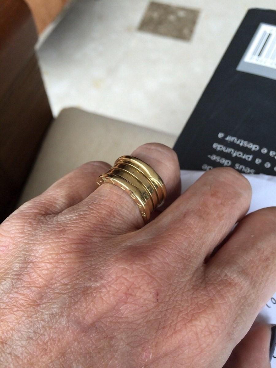 aea412cae1c aliança anel bvlgari b-zero ouro 18k 750 perfeitas com mola. Carregando  zoom.