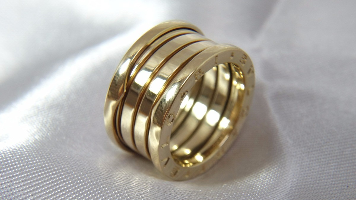 76627695eb4 aliança anel bvlgari b-zero ouro 18k. Carregando zoom.