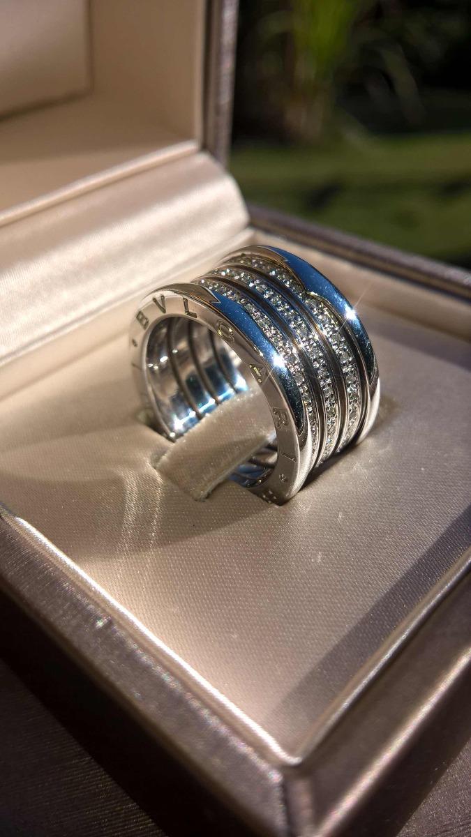 cf46e9d0dde aliança anel bvlgari b-zero ouro branco 18k brilhantes. Carregando zoom.