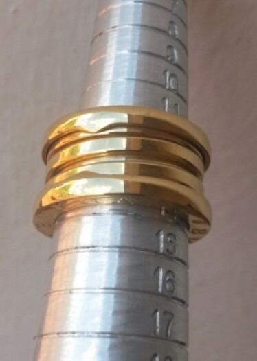 d0303deceaf Aliança Anel Bvlgari Titânio Banhado Ouro 18k B.zero - R  149