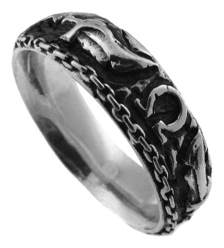 aliança / anel em prata 925 - god of war - 1299