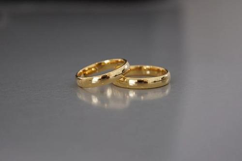 aliança anel folheada a ouro 18k aço inox tungstênio promoçã