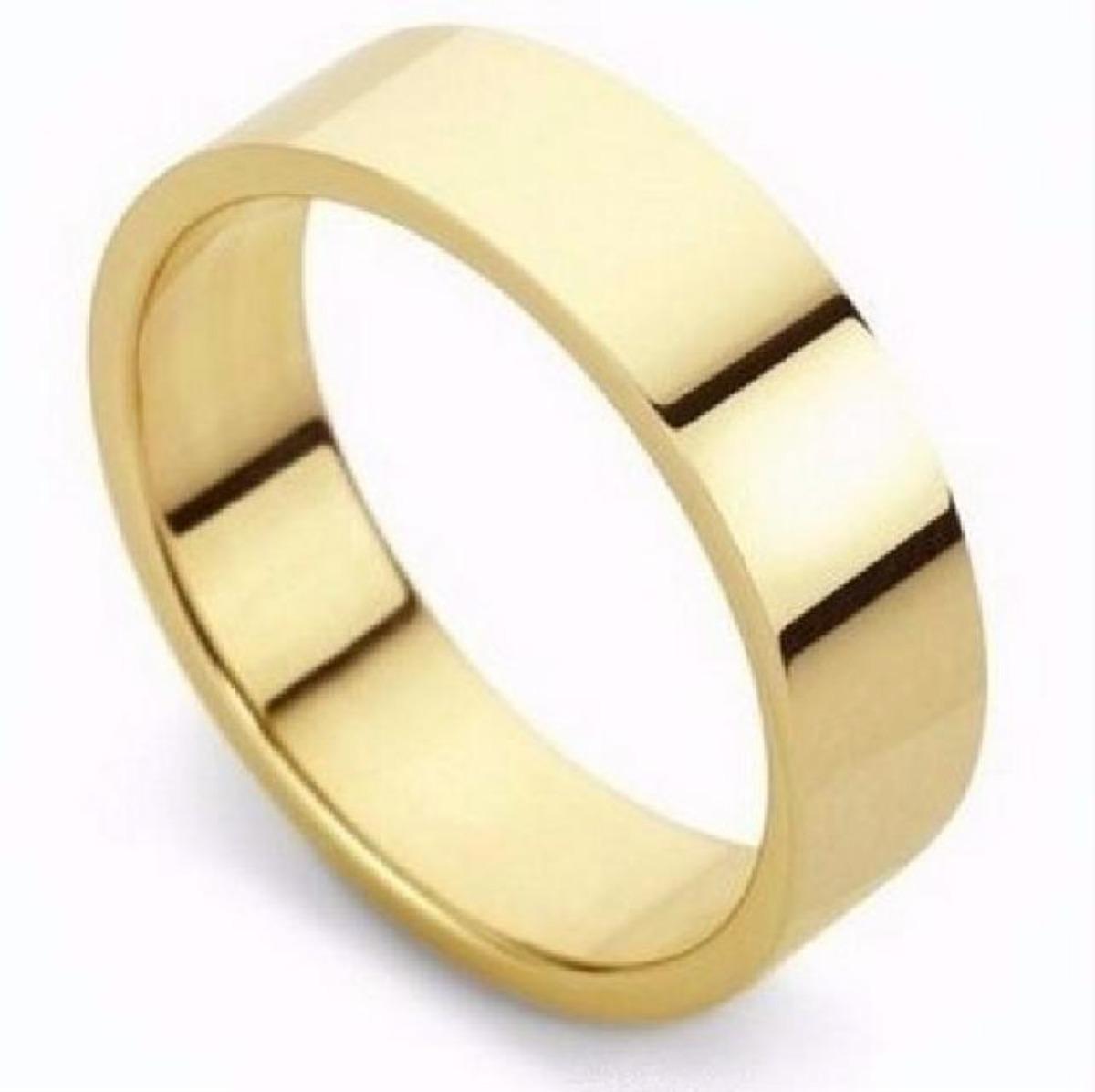 0139c2bce3b84 aliança avulsa ouro banhada tungstênio casamento reta 6mm. Carregando zoom.