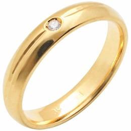 aliança casamento abaulada trabalhada c/ diamante al97c