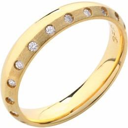 aliança casamento reta trabalhada com diamantes al152 conf