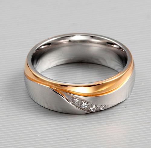 aliança compromisso namoro banhado ouro prata anatômica