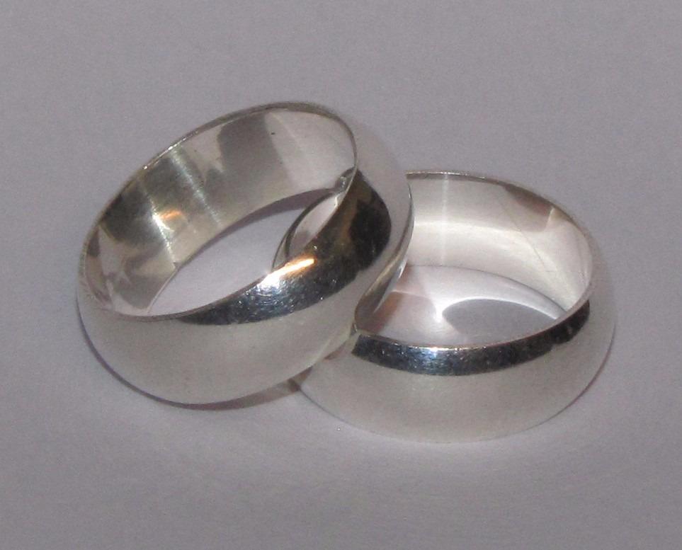 d35f4e9abcb3b aliança compromisso namoro tradicional prata 7mm grossa par. Carregando zoom .