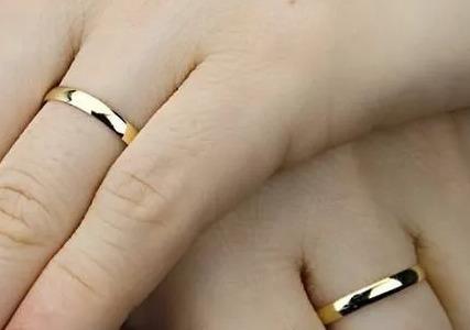aliança de casamento/noivado em ouro 18k tradicional unidade