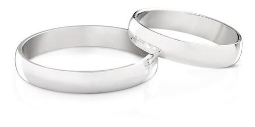 aliança de compromisso prata 950 tradicional 3 mm