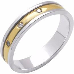 aliança de noivado bicolor trab c diamantes al188 conforte