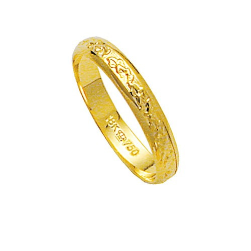 aliança de ouro 18k 750 largura 3.50mm altura 1.00mm