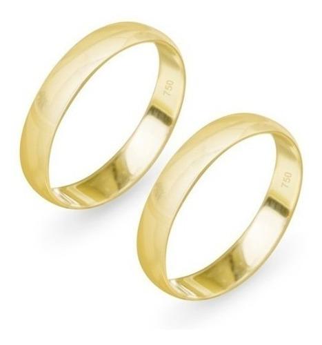 aliança de ouro 18k abaulada 5mm 3 gramas (1 unidade)