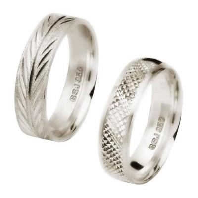 aliança de prata 6 mm trabalhada