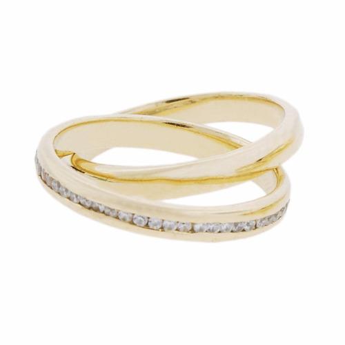 aliança dupla ouro 18k com diamantes mod. cj1442