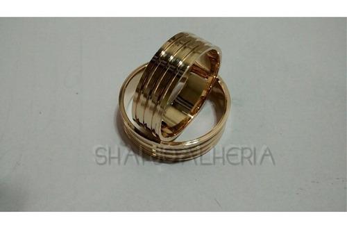 alianca em ouro 18k  8mm promoçao preco baixo noivados