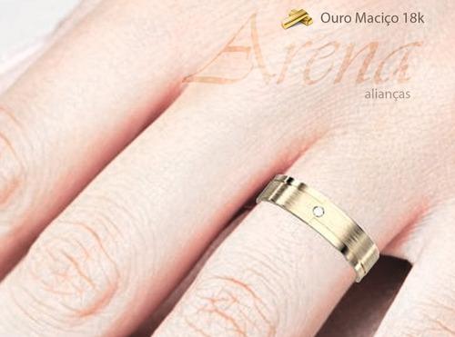 aliança em ouro 18k noivado e casamento garantia vitalícia