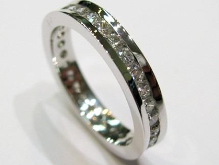 4045b71193fb4 Aliança Em Ouro Branco Com Diamantes De 3 Pontos!!! - R  2.855