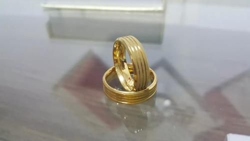 aliança folheada ouro