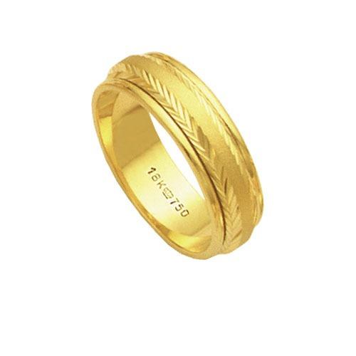 aliança giratória de ouro 18k 750 largura 6.00mm altura 1.0