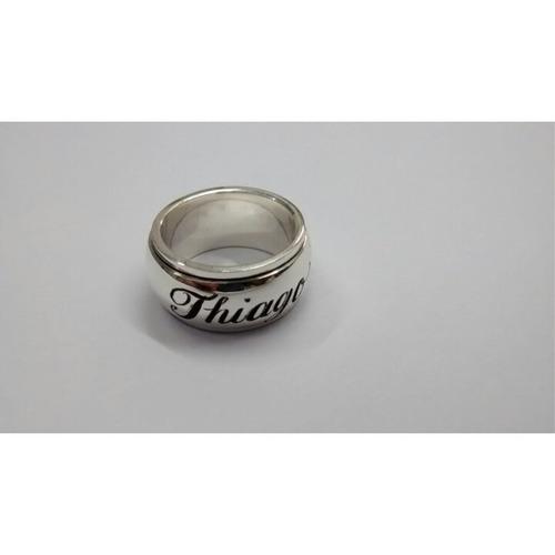 aliança giratória em prata 950 nome por fora