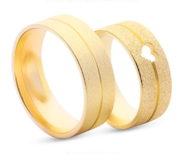 60db4b0ae56 Aliança Noivado Casamento Folheado Ouro 18k Gravação Grátis - R  69 ...