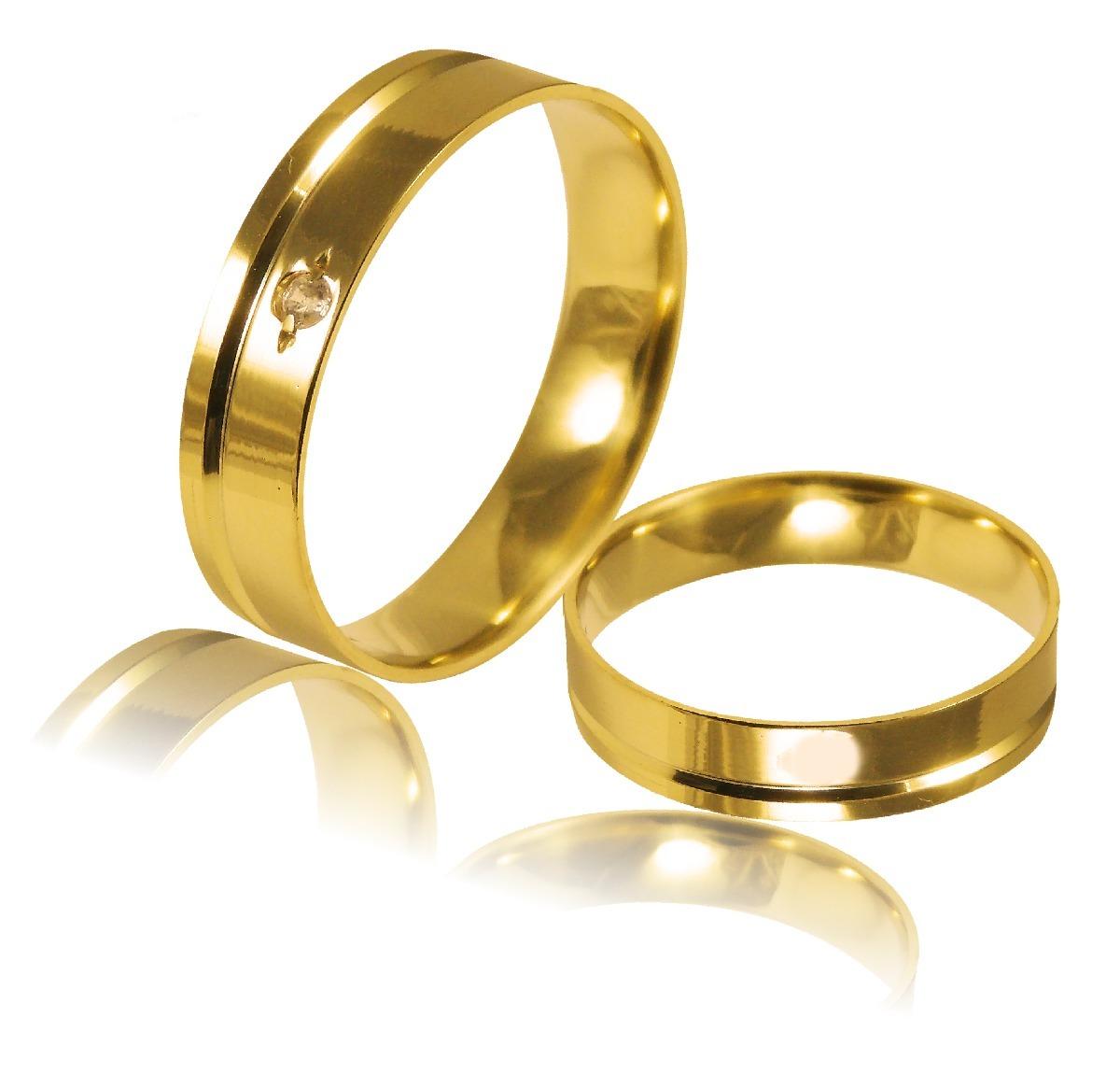 Aliança Ouro 18k 4,5mm Larg 7gr Par Al 041 - R  1.270,00 em Mercado ... 251bad6e68